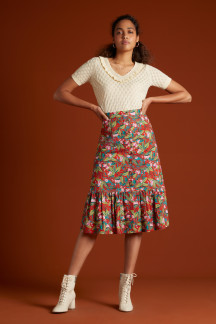 Esme Button Skirt Salina