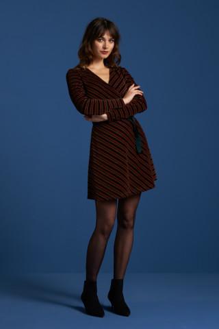 Wrap Dress Nikki Stripe