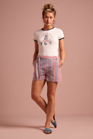 Roisin Shorts Bellaria Stripe