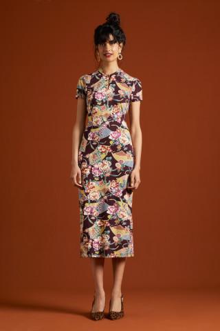 Chinese Midi Dress Salon