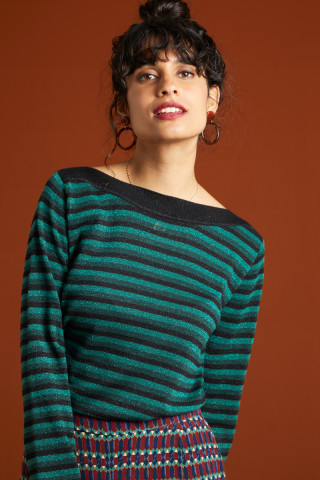 Audrey Top Dazzle Stripe