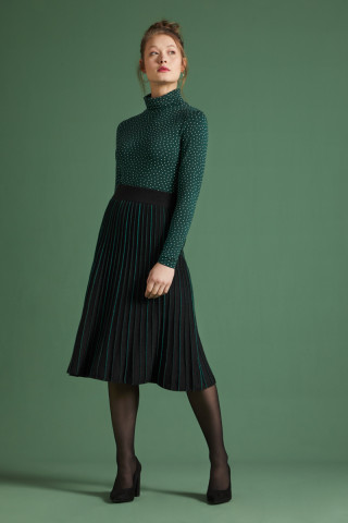 Pintuck Skirt Dazzle Stripe