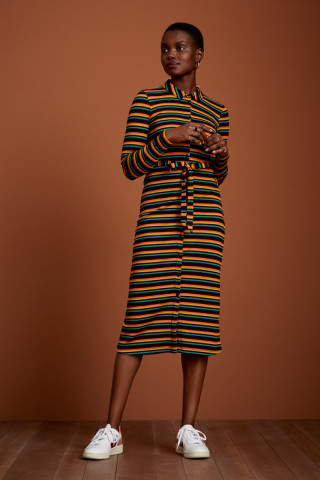 Rosie Slim Fit Dress Jardin Stripe