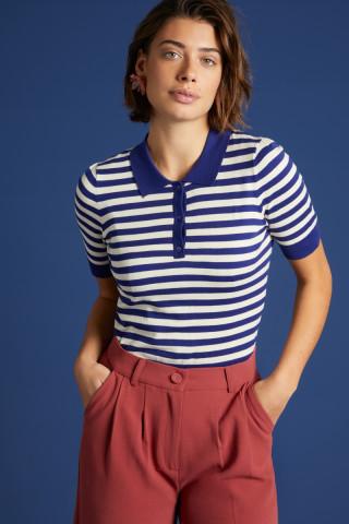 Polo Top Classic Stripe