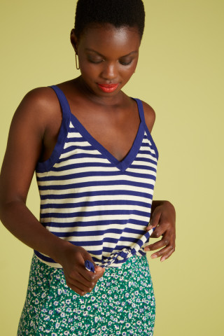 Isa Knot Camisole Classic Stripe