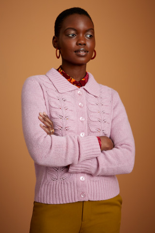 Collar Cardigan Custard
