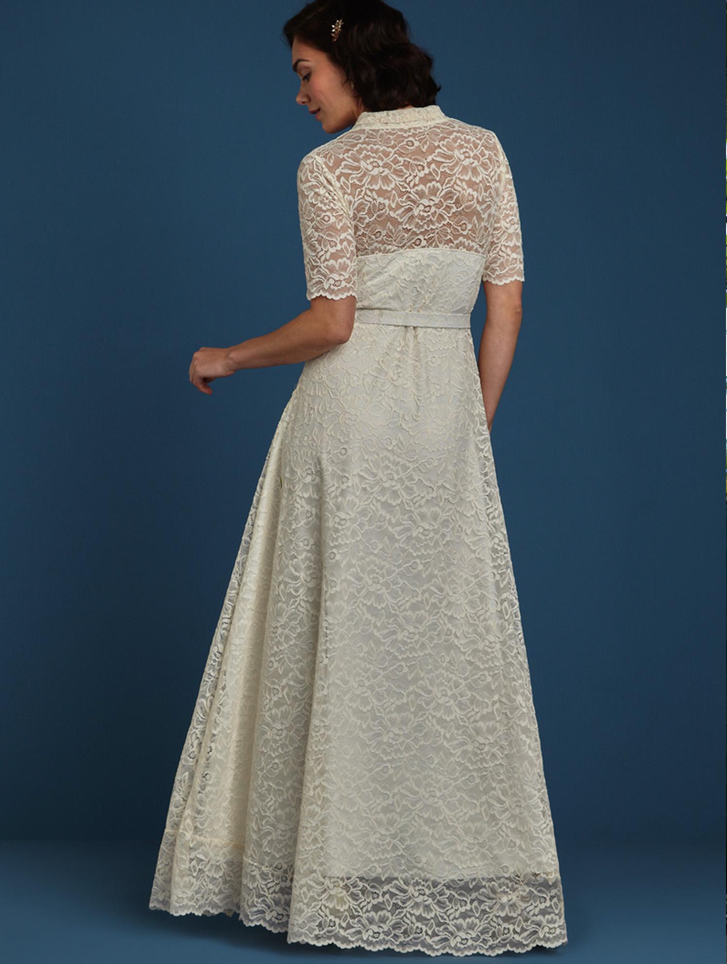 Emmy Maxi DRess Dentelle - Vintage inspiriertes Brautkleid aus Spitze