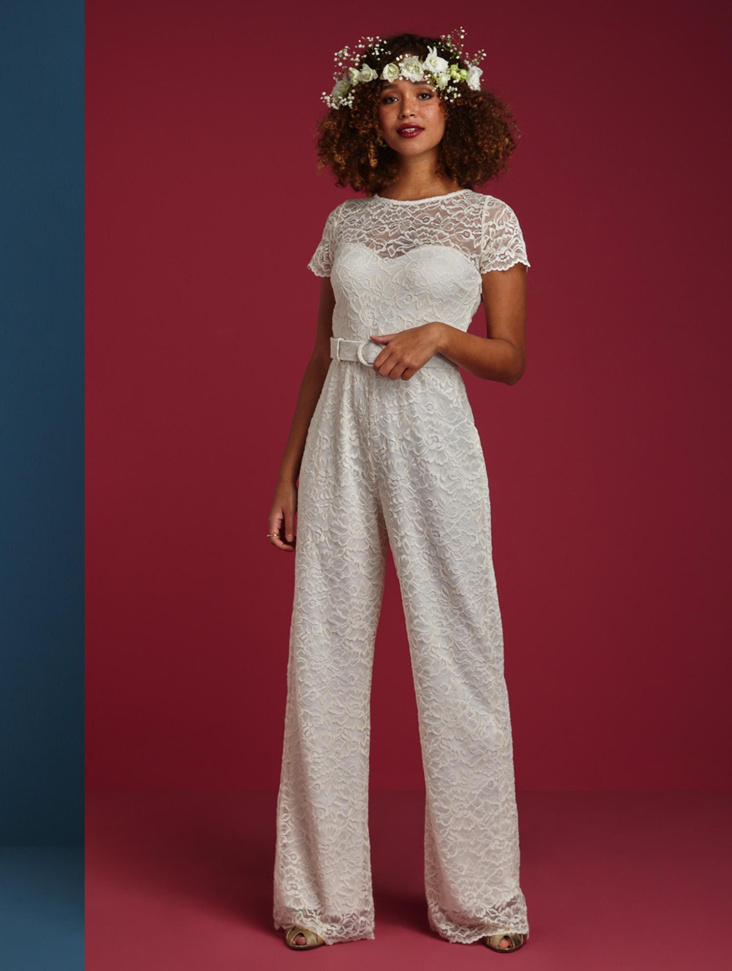 Betty Jumpsuit Debtelle - Hochzeits-Jumpsuit aus Spitze im Vintage Stil