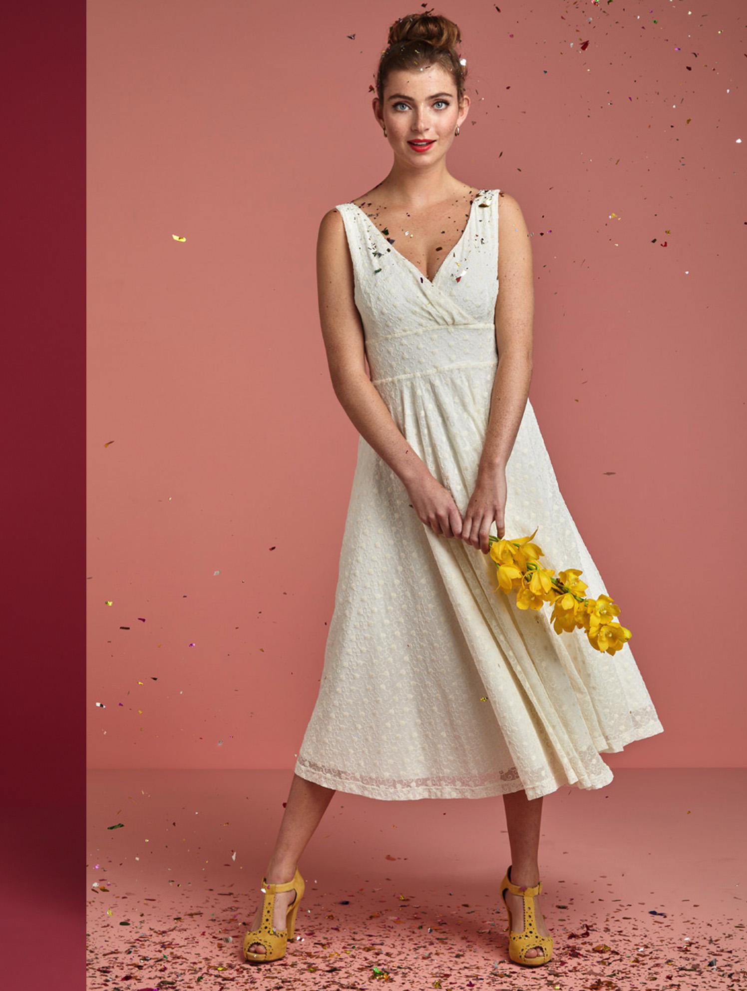 Ginger Dress Wide - Brautkleid im Empire Schnitt   Brautmode Vintage inspiriert