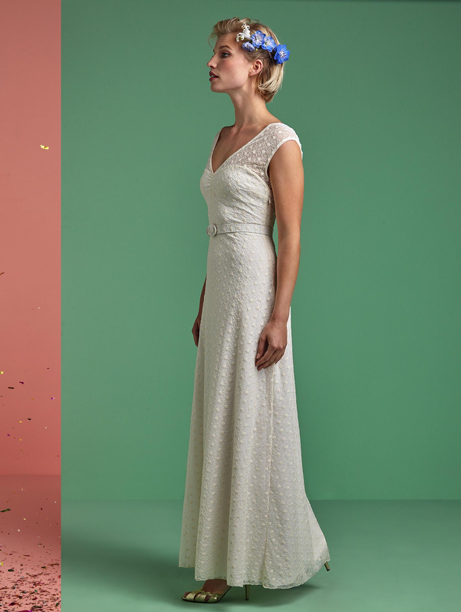 Ella Maxi Dress - Vintage inspiriertes Brautkleid