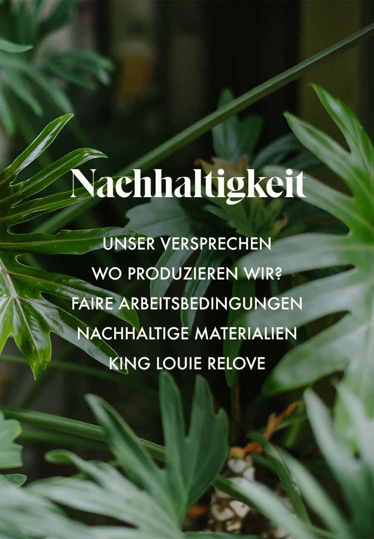 King Louie & Nachhaltigkeit